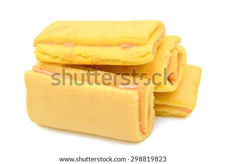 cookies custard isolated on white background
