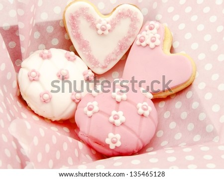 Cookies decorated with wedding - stock photo