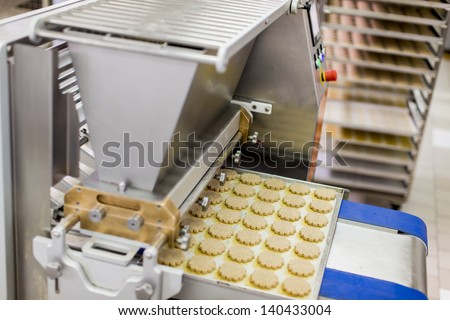 Cookies factory - stock photo