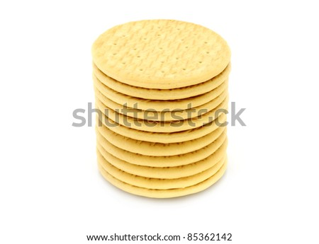 Cookies heap on a white background