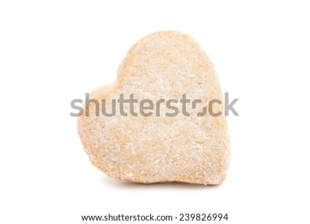 Cookies heart on a white background