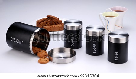 cookies in container - stock photo