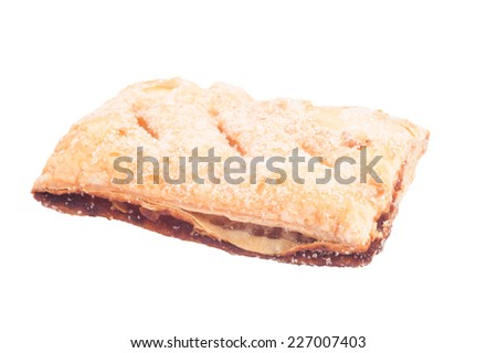 cookies in stack isolated on white with clipping path