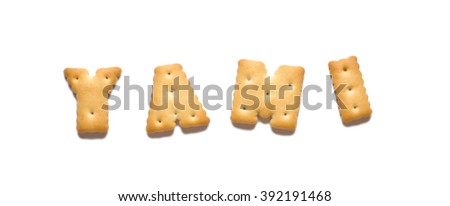 Cookies in the shape of letters. - stock photo