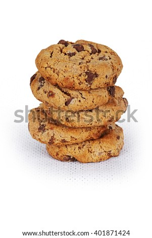 cookies in white - stock photo