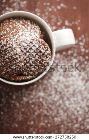 Cookies in white cup - stock photo