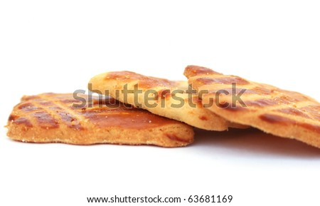 Cookies isolated on white background.
