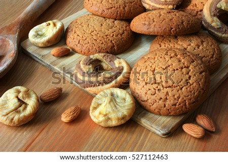Cookies, nuts and figs