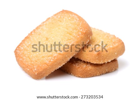 Cookies on white background - stock photo