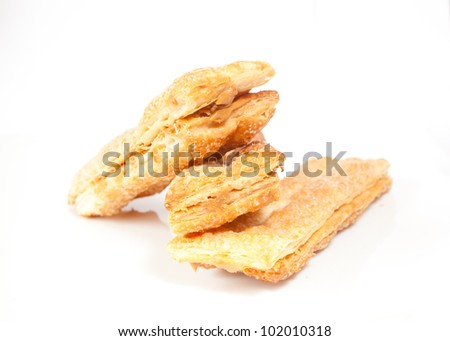 Cookies puff pastry - stock photo
