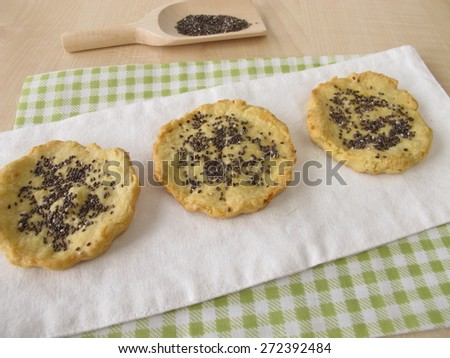 Cookies with chia seed - stock photo