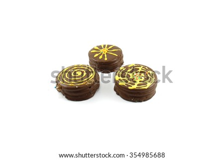 cookies with chocolate and delicacy