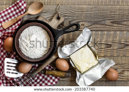 cooking background - stock photo