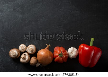 Cooking Background vegetables - stock photo