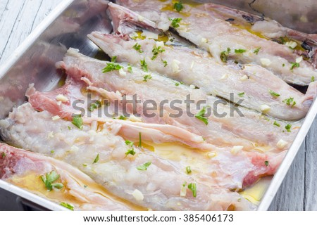 Cooking Baked sea bass