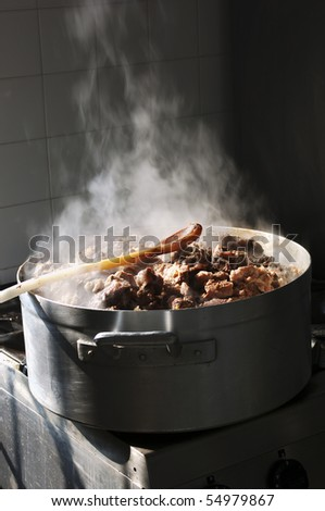 Cooking braised - stock photo