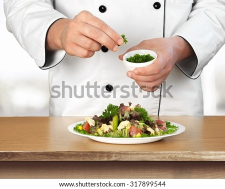 Cooking Chef. - stock photo