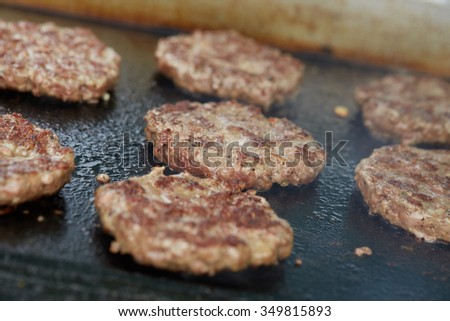 cooking cutlet BBQ