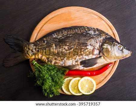 Cooking delicious fish.
