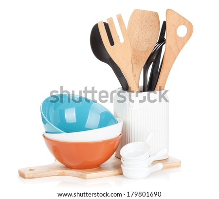 Cooking equipment. Isolated on white background - stock photo