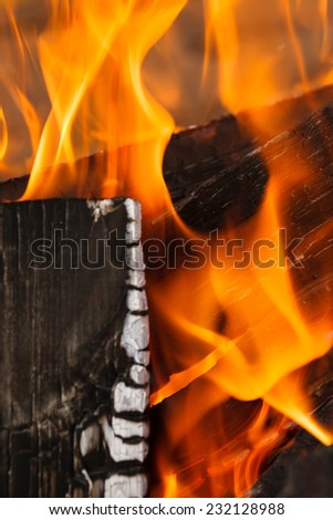 Cooking fuel.  Charcoal widely used for outdoor grilling and barbecues in backyards and on camping trips. - stock photo