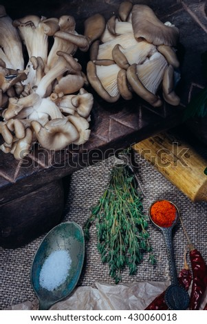 Cooking ingredients - mushrooms