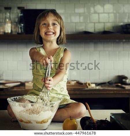 Cooking Kids Cookies Baking Bake Concept - stock photo