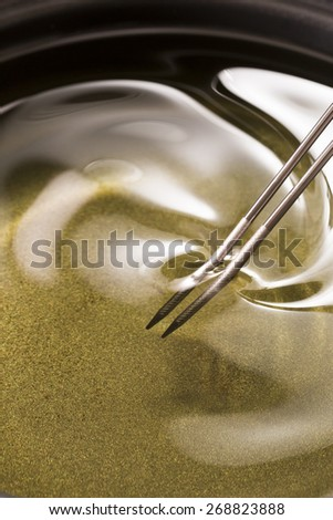 Cooking, oil, vegetable oil - stock photo