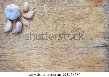 cooking on a cutting board - stock photo