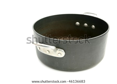 cooking pot isolated on white with room for your text or images