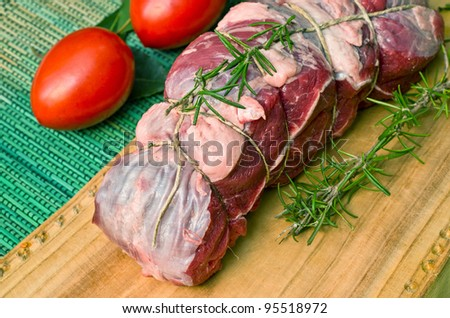cooking roast beef