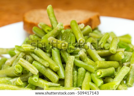 cooking Slice of green beans