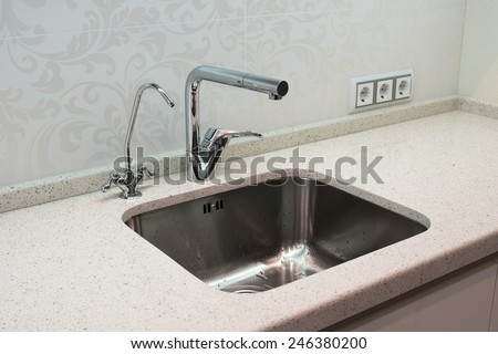 cooking surface with crane - stock photo