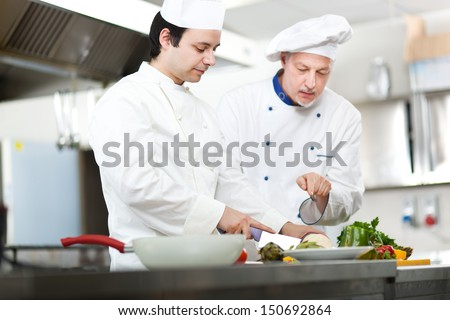 Cooking training - stock photo