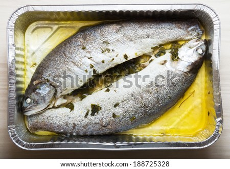 Cooking trout in foil