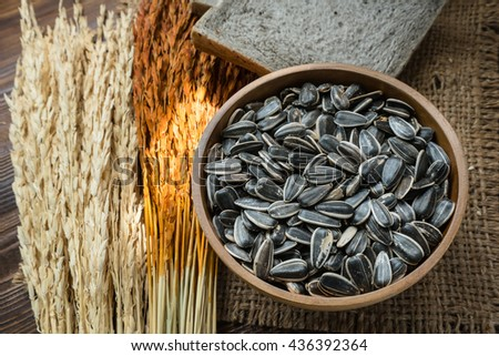 Cooking with sunflower seeds, food for good health. - stock photo
