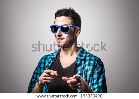 Cool boy ready to party. - stock photo
