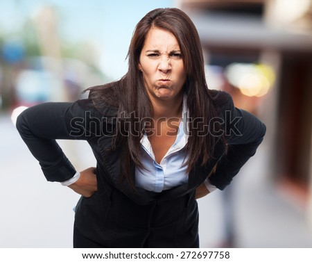 cool business-woman angry - stock photo