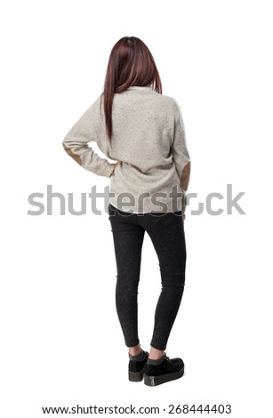 cool chinese-woman-full-body back