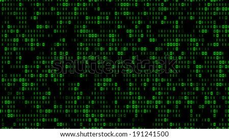 Cool Digital Binary Matrix Effect - stock photo
