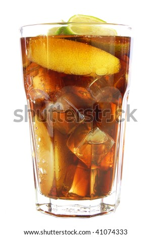 cool drink isolated on white background