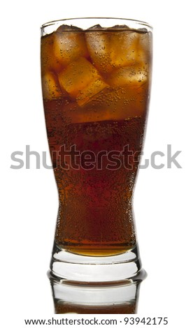 cool drink on a white background