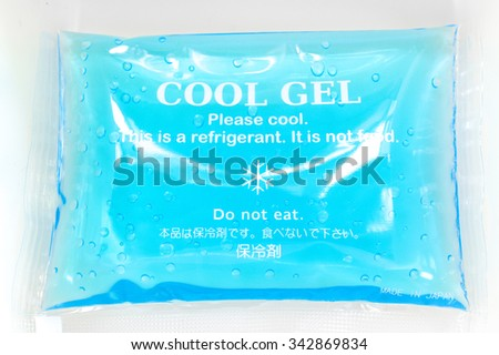 Cool Gel isolated in a food box container - stock photo