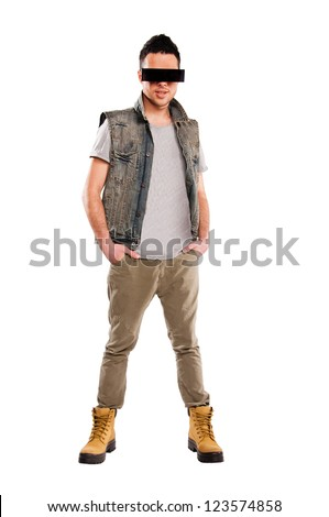 cool man isolated on white background