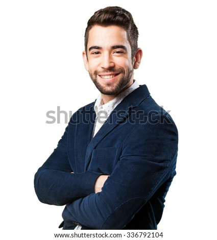 cool man standing - stock photo