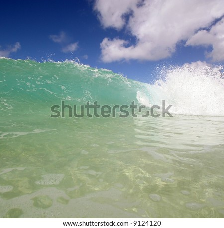 cool ocean wave - stock photo
