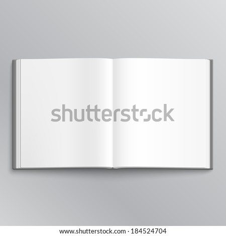 Cool Open book with white pages - stock photo