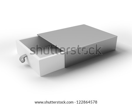 Cool Realistic White Package isolated on a white background - stock photo