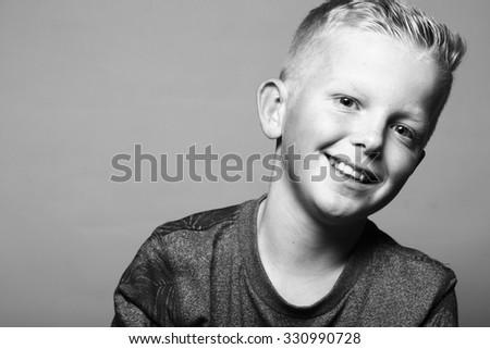 Cool schoolboy - stock photo