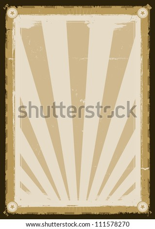 Cool Vintage Background Poster/ Illustration of a design retro poster background for various contents - stock photo